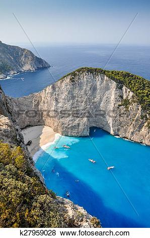 Pictures of Navagio shipwreck beach, Zakynthos k27959028.