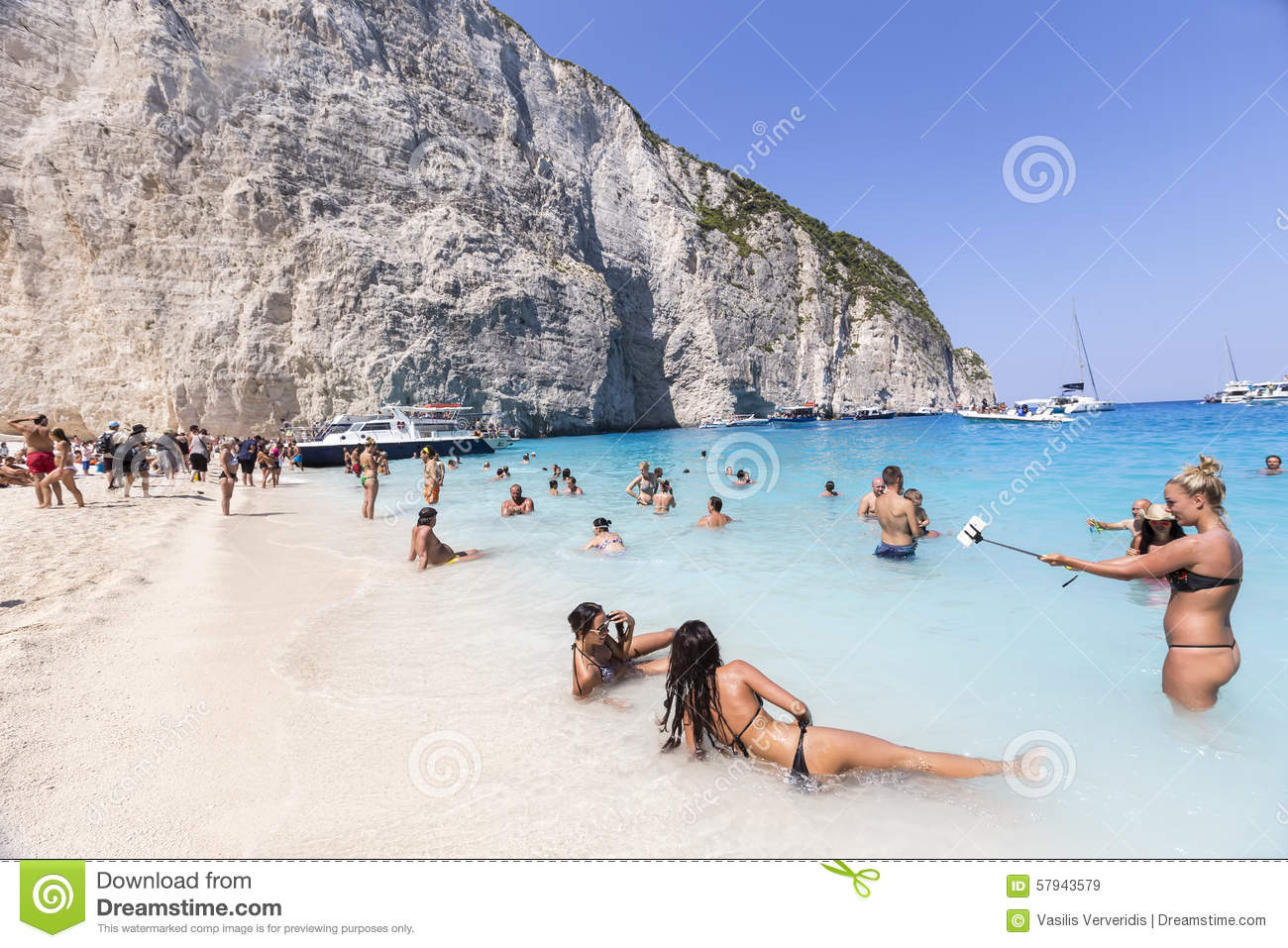 View Of Navagio (Shipwreck) Beach In Zakynthos Editorial Stock.