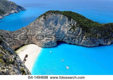 Pictures of Shipwreck Navagio Beach Zakynthos Greece Ionian Sea.