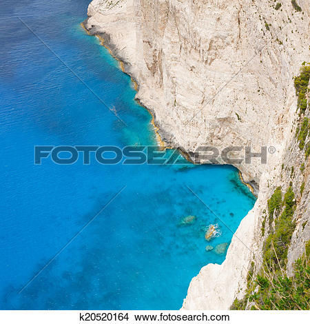 Stock Photo of Shipwreck Bay,Navagio Beach, Zakynthos, Greece.