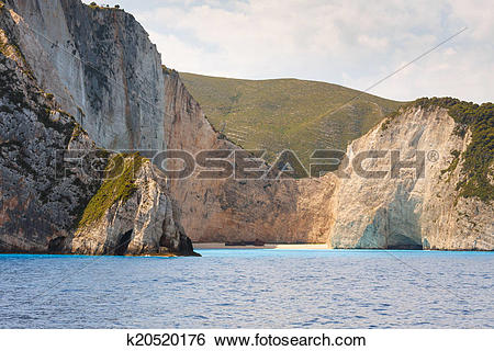 Stock Images of Shipwreck Bay,Navagio Beach, Zakynthos, Greece.