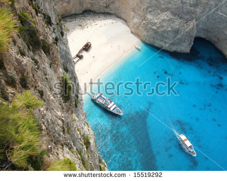 Navagio The Shipwreck Beach Zakynthos Island Stock Photo 76555903.