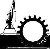 Clip Art of vector silhouette shipyard k4651826.
