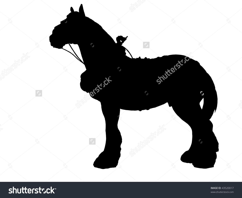 Shire Horse Collar Silhouette Stock Illustration 43520017.