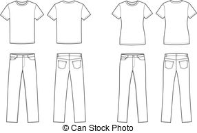 Shirt and pants clipart black and white 3 » Clipart Station.