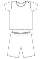 T Shirt & Shorts Template Set stock vectors.