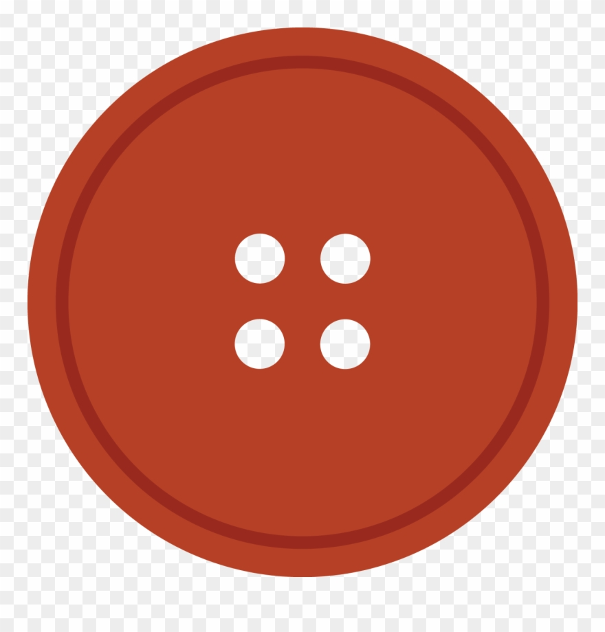Bright Rediant Round Cloth Button With 4 Hole.