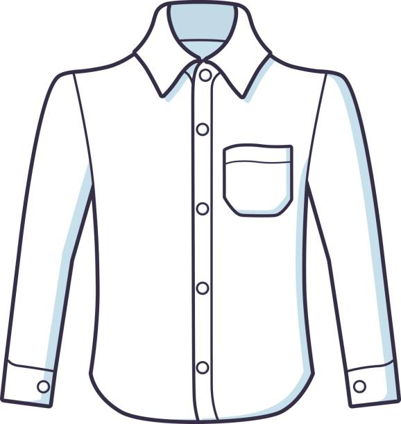 Button Down Shirt Clipart.