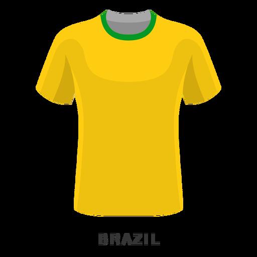 Brazil world cup football shirt cartoon.