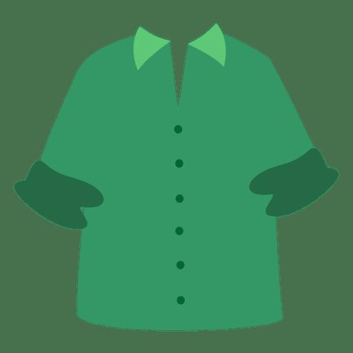 Green men shirt cartoon.
