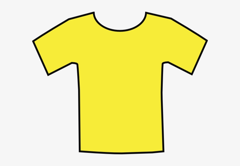 Yellow T Shirt Cartoon.