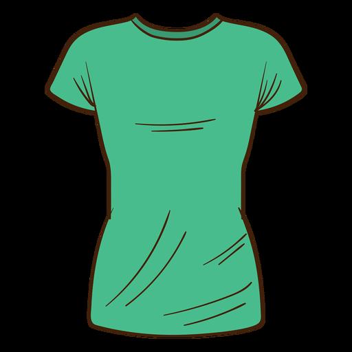 Green men t shirt cartoon.