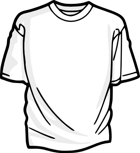 Blank T Shirt clip art Free vector in Open office drawing.
