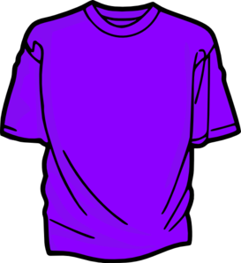 Purple Shirt Clipart.
