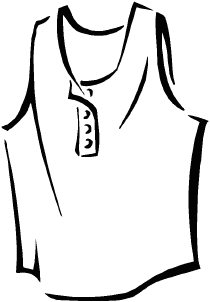 T Shirt Clipart Black And White.
