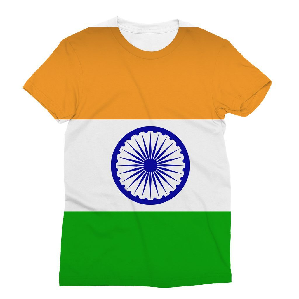 Basic India Flag Sublimation T.
