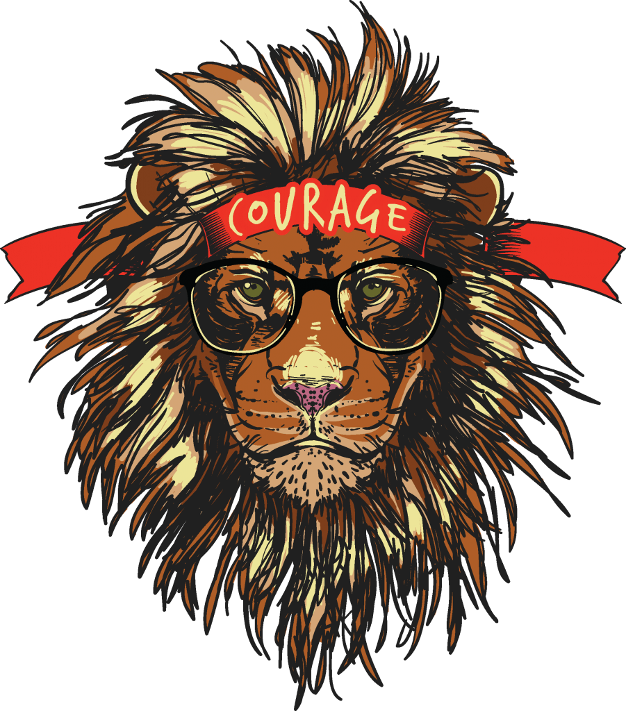 Courage t shirt vector file.