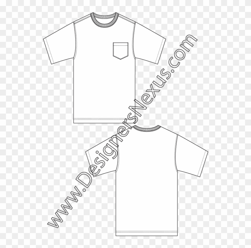 Dress Shirt Clipart Flat Sketch Men\'s.