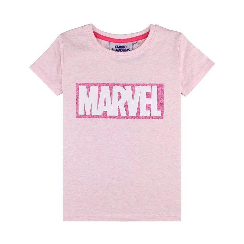 Marvel Glitter Logo Girl\'s T.