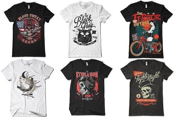 do t shirt design with free vector files.