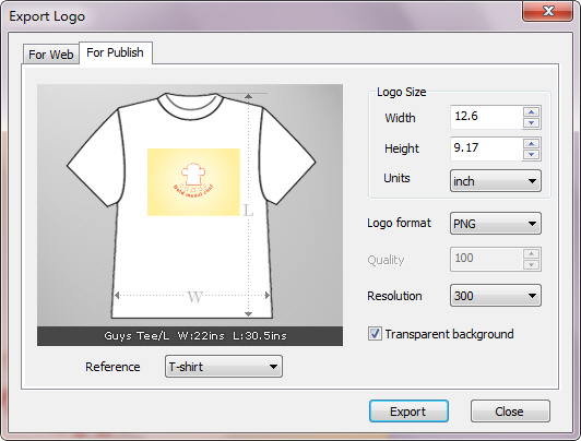 Export Image for Publish.