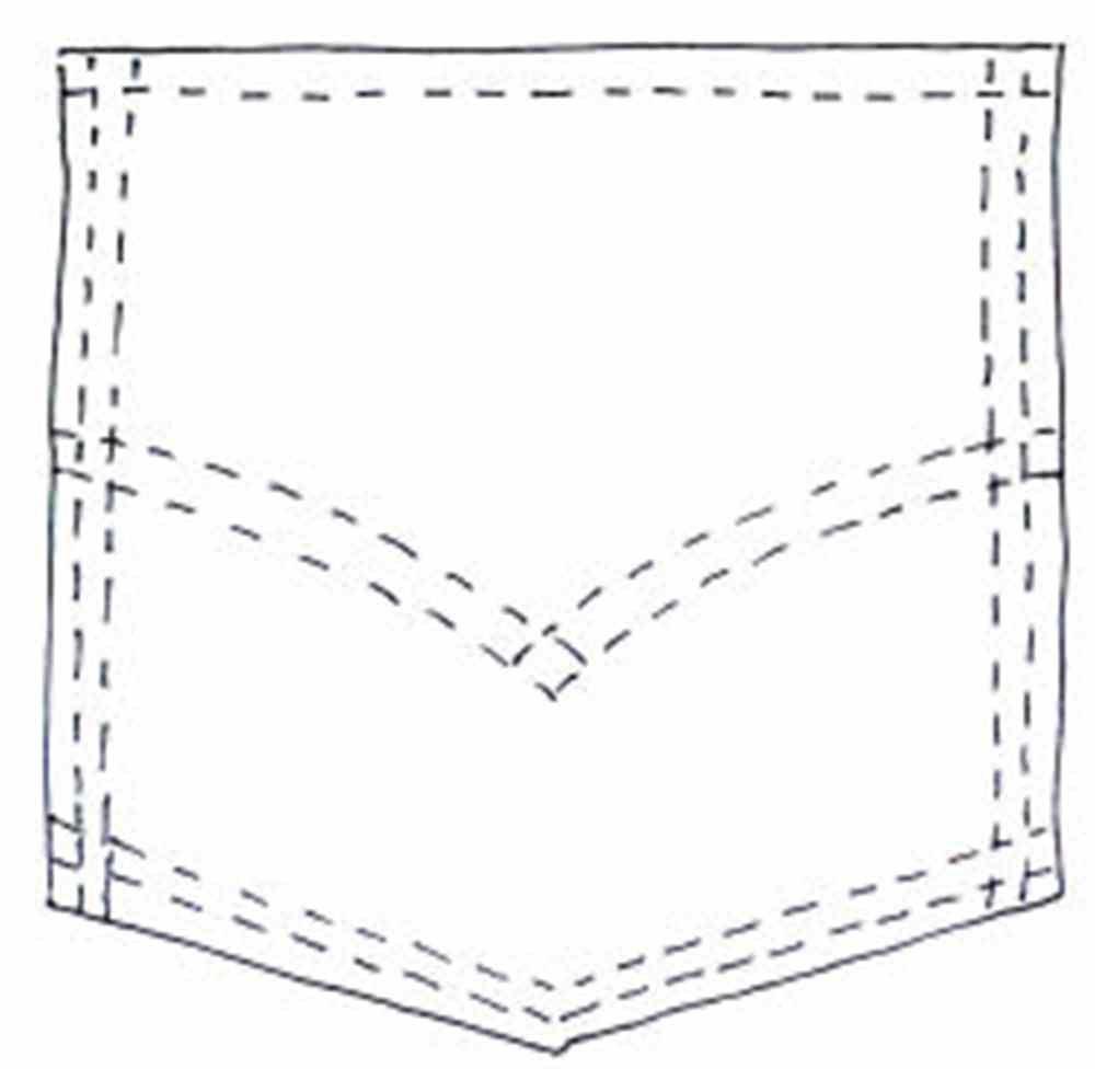 Shirt Pocket Clipart Black And White Jeans pocket clip art.