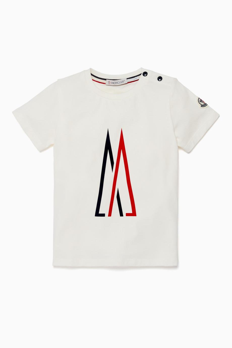 Shop Moncler White White M Logo Print T.