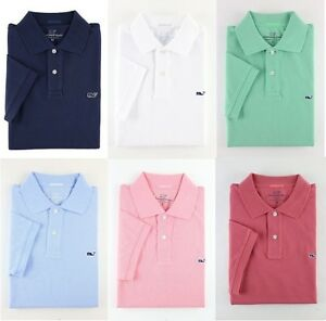 Details about NWT 2019 Vineyard Vines Men\'s Polo Shirt Whale Logo  Classic.