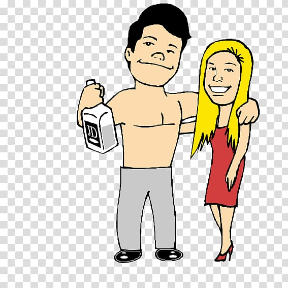 Shirtless drinking transparent background PNG clipart.