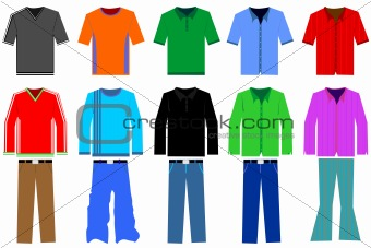Image 3493723: Men's clothes illustration from Crestock Stock Photos.