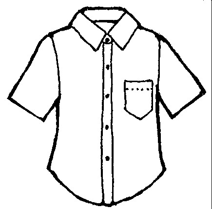Blouse coloring page