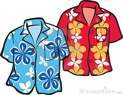 Hawaiian Shirt Clip Art.