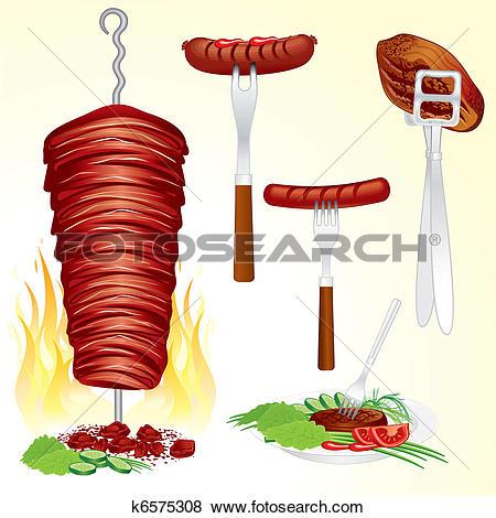 Shish kebab clipart #15