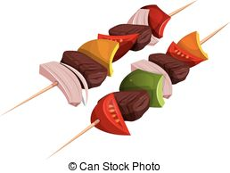 Kebab skewers Clip Art Vector and Illustration. 743 Kebab skewers.