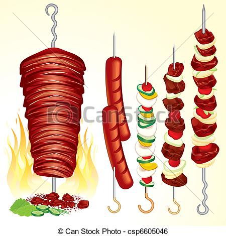 Kebab Illustrations and Clipart. 2,282 Kebab royalty free.