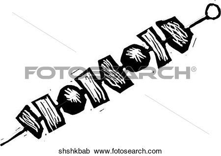 Clipart of Shish Kebab shshkbab.