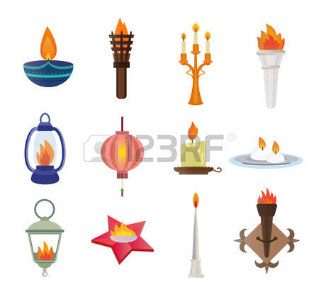 23,815 Candles Set Stock Vector Illustration And Royalty Free.