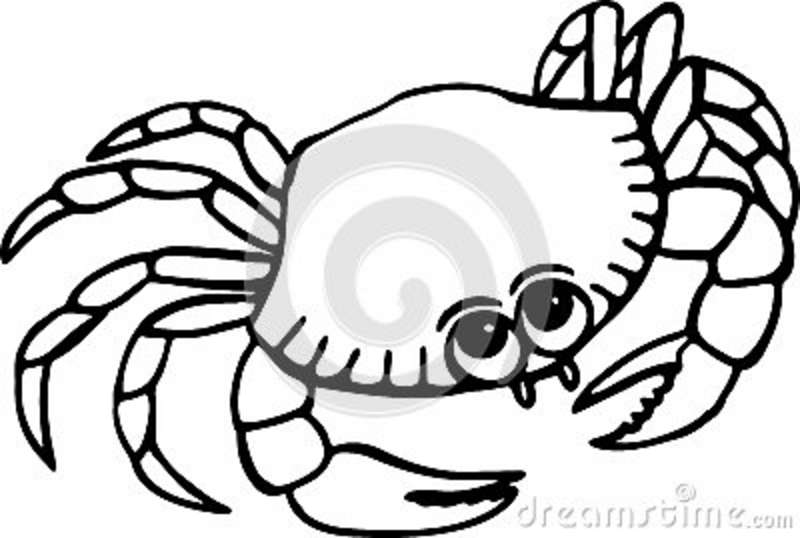 Crab Clipart Black And White.