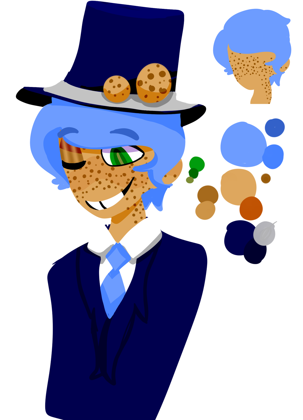 Cookie demon shit face for the oc thing by VexingPyro on DeviantArt.