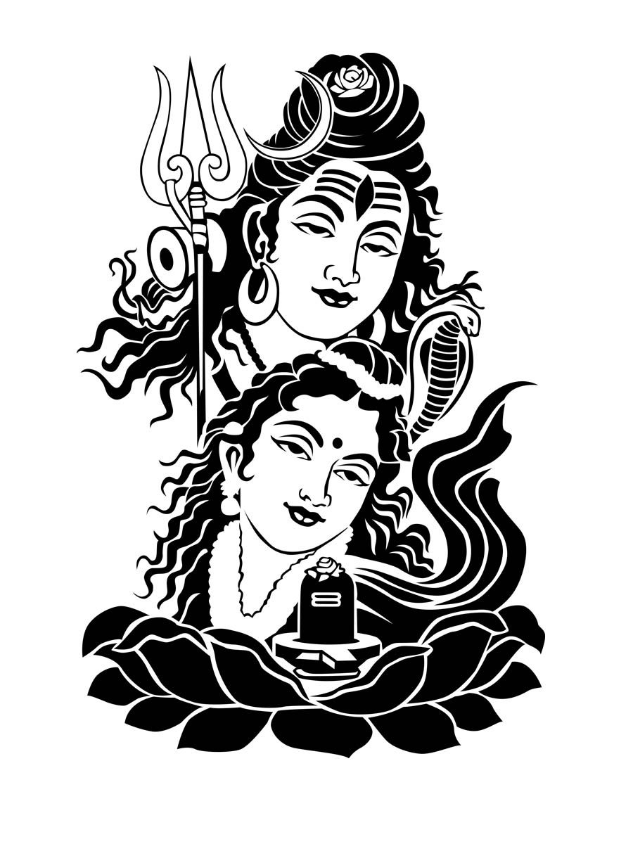 Collection of Shiv clipart.