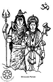 Lord Shiva and Family Clip Art.