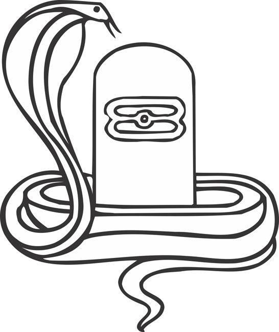 Shivling With Snake Clipart.