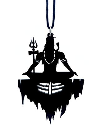 Clean & Clever Car Logo Lord Shiva on Mount Kailash with Tilak Hanging  Spiritual Ornament Decor for Rear View Mirror, 4\