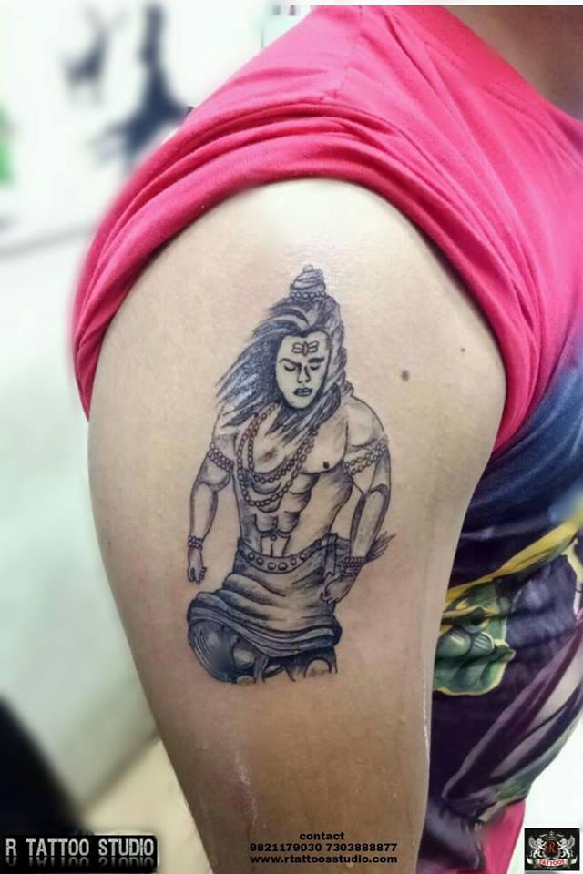Angry Shiva tattoo.