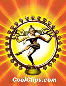 Hindu Shiva Nataraja Royalty Free Fineart Raster Illustration.