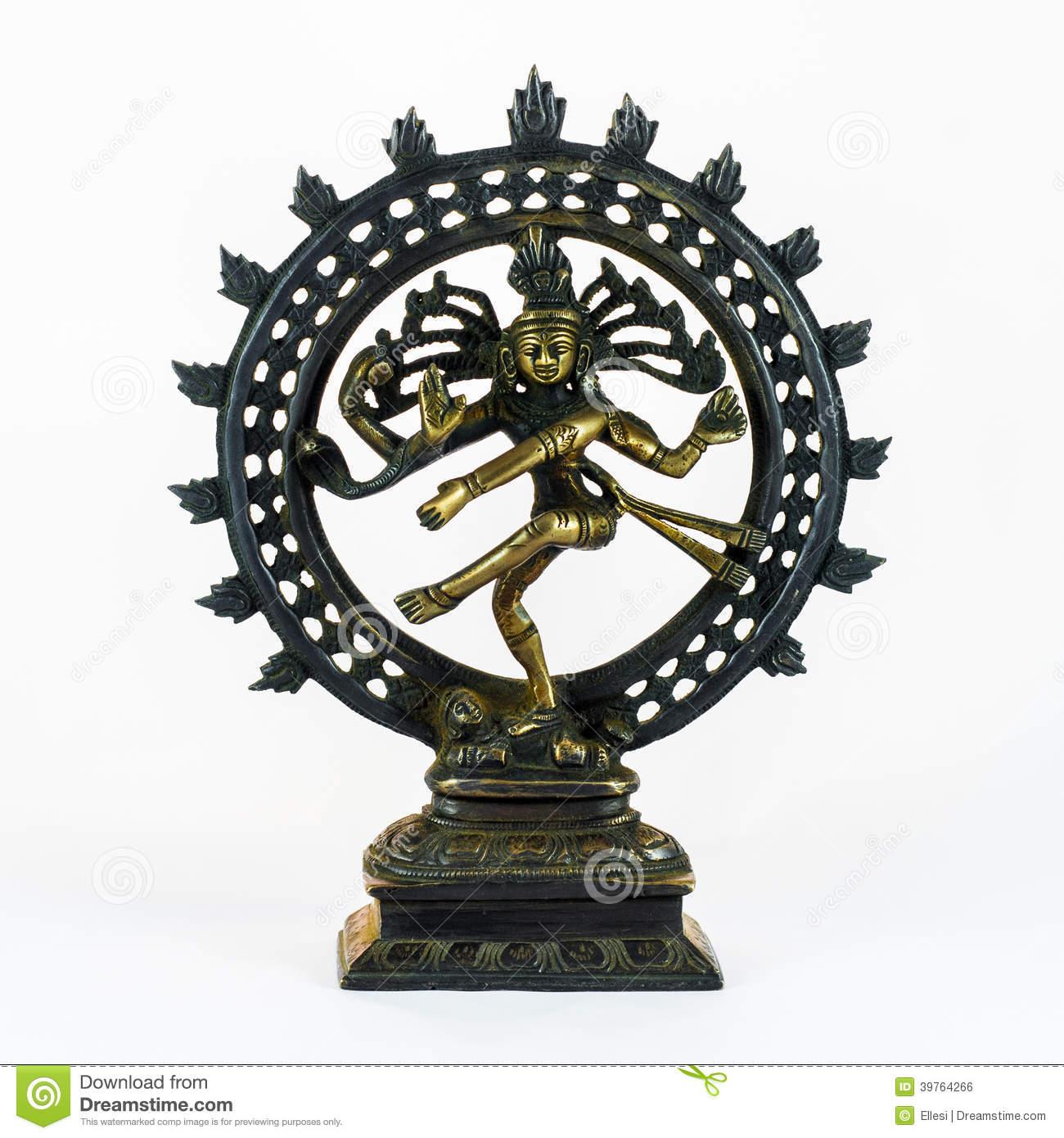 Shiva Dancing Nataraja Stock Photo.