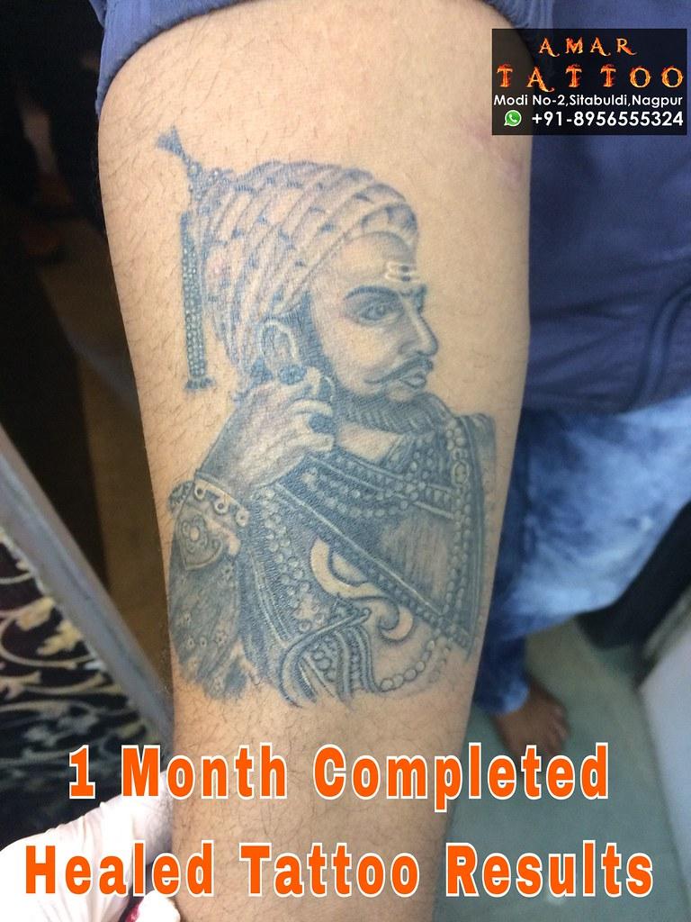 shivaji maharaj heald tattoo.