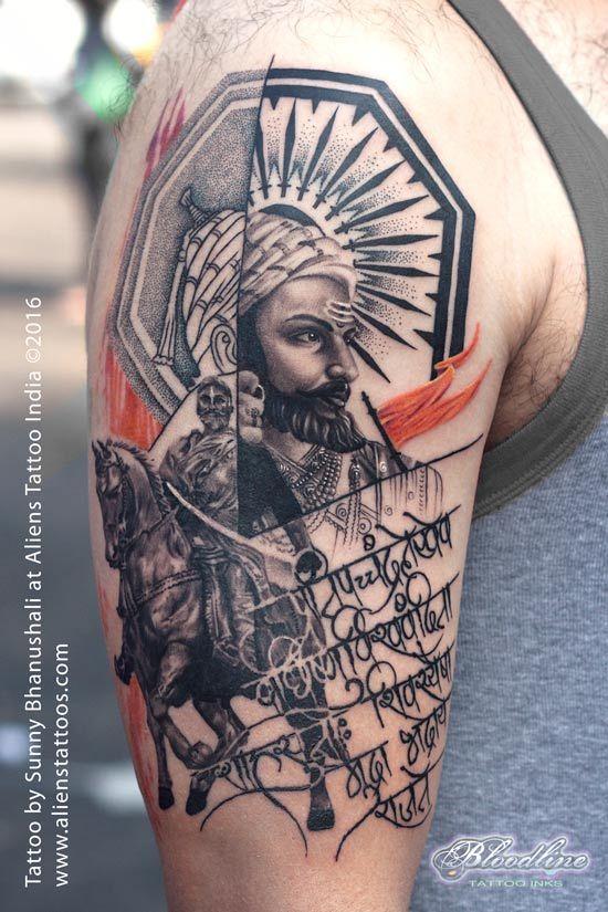 Chatrapati Shivaji Tattoo by Sunny Bhanushali at Aliens.