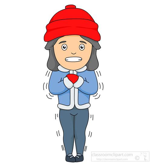 Person Shivering Clipart.