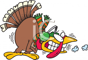 Cartoon Clipart Picture Of A Cold Turkey.